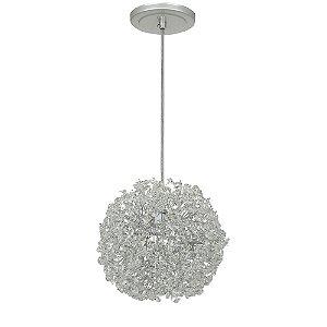 Pendente 200-15 ninho cristais prata - 15 cm