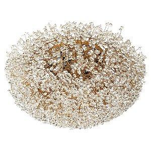 Plafon 200-60 ninho cristais dourado - 60cm
