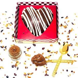 Coração de Chocolate Fit Zero (meio amargo) com recheio tipo Nutella (vegano) 200g