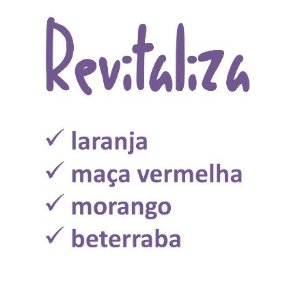 """SUCO PRENSADO A FRIO """"REVITALIZA"""" 300ml"""