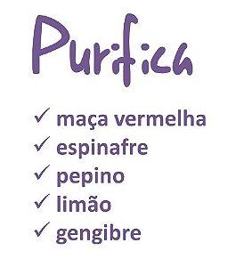 """SUCO PRENSADO A FRIO """"PURIFICA"""" 300ml"""