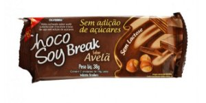 Chocolate Wafer Choco Soy Break Avelã 38g