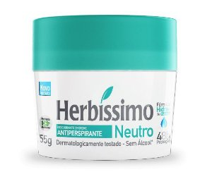 Desodorante Creme Antitranspirante Herbissimo Neutro 55g