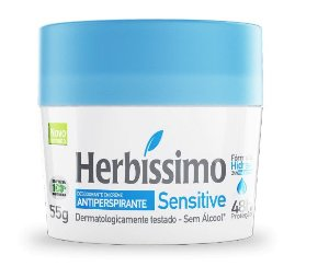 Desodorante Creme Antitranspirante Herbissimo Sensitive 55g