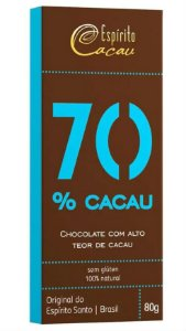 Chocolate 70% Cacau 80g