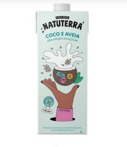 Leite Vegetal de Coco e Aveia Natuterra 1l