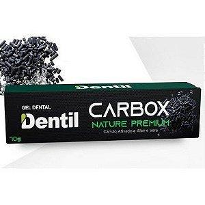 Creme Dental Vegano Com Carvão Ativado Dentil Carbox Nature Premium 70g