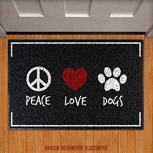 Capacho Peace love dog