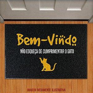 Capacho Bem-Vindo, não esqueça do gato