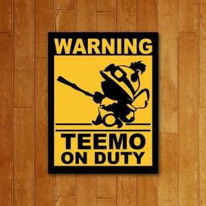 Placa Decorativa Teemo on duty