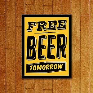 Placa Decorativa Free Beer