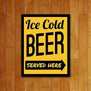 Placa Decorativa Cold Beer