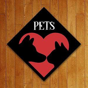 Placa Decorativa Pets