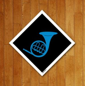 Placa Decorativa Trompa Azul