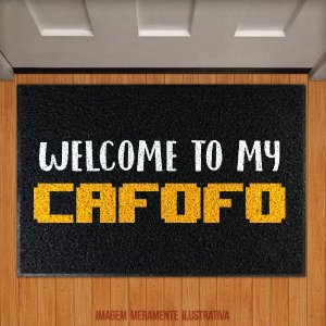 Capacho Welcome To My Cafofo