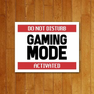 Placa Decorativa Gaming Mode