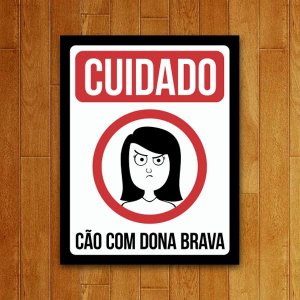 Placa Decorativa Dona Brava