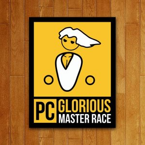 Placa Decorativa PC Master Race