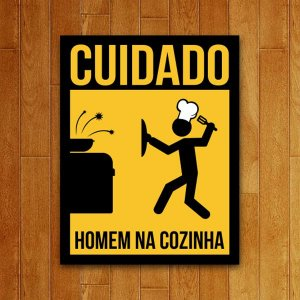 Placa Decorativa Homem Na Cozinha