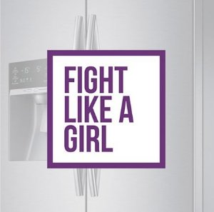 Imã de geladeira - Fight like a girl