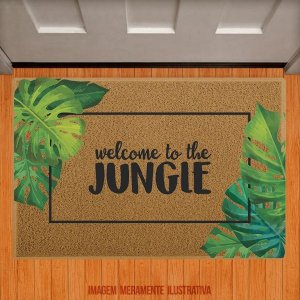 Capacho Welcome to the jungle - com folhas