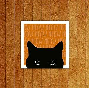 Placa Decorativa Meow V3