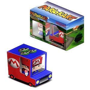 Mario kart Van Caixa de Carro Ornamentos Cube Dobrável 3D