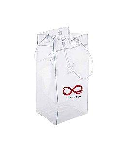 Bolsa Wine Bag Pvc Transparente P/ Gelo E 1 Garrafa