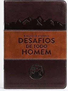 Bíblia de Estudo o Desafios de Todo Homem NVT |Marrom|