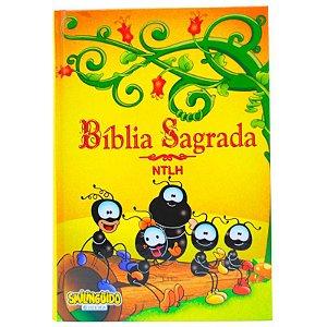 BÍBLIA NTLH SMILINGUIDO TURMA CAPA DURA AMARELA