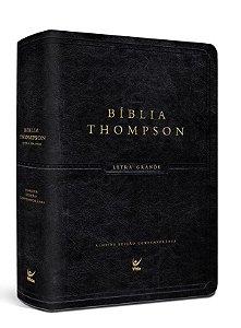 BIBLIA THOMPSON AEC LETRA GRANDE LUXO PRETA COM INDICE