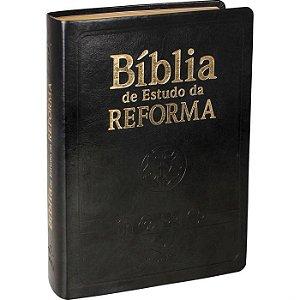 BÍBLIA DE ESTUDO DA REFORMA COM ÍNDICE PRETA