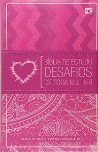 Bíblia de Estudo Desafio de toda mulher |Luxo Rosa|