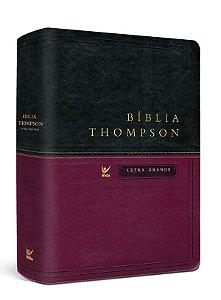 BIBLIA THOMPSON LETRA GRANDE CAPA LUXO VERDE E VINHO