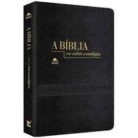 Bíblia NVI em Ordem Cronológica capa luxo preta