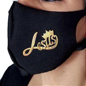 Máscara de proteção Higiênica reutilizável |Jesus coroa|