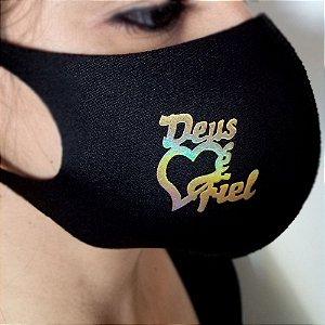 Máscara de proteção Higiênica reutilizável |Deus é fiel|