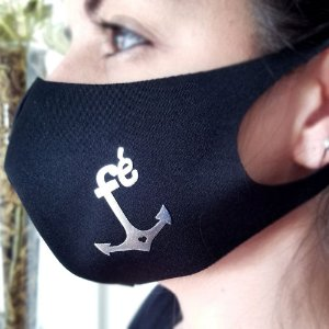 Máscara de proteção Higiênica reutilizável | Fé Âncora Prata|
