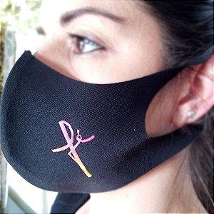 Máscara de proteção Higiênica reutilizável |Fé Rosa|