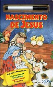 HISTÓRIA BÍBLICA E PASSATEMPOS - ESCREVA E APAGUE: NASCIMENTO DE JESUS
