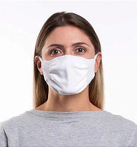Máscara Zero Costura Vírus Bac-Off - Kit com 2 unidades (Adulto) |BRANCA|