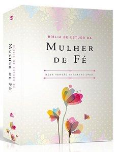 Bíblia de Estudo da Mulher de Fé NVI |Luxo Florida|