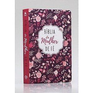 Bíblia De Estudo Da Mulher de Fé | NVI | Letra Normal | Soft Touch | Florida Rosa|