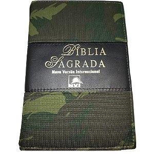 Bíblia Sagrada NVI |com índice lateral|capa camuflada|Ziper|