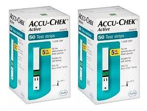 Leve Mais Por Menos - (Kit 2 Unidades) - Tiras de Glicemia Accu-Chek Active Economy 50 Unidades