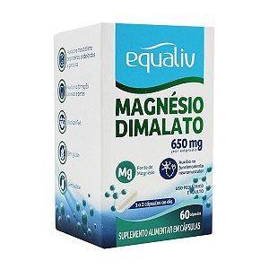 Magnésio Dimalato 650mg Equaliv 60 Cápsulas