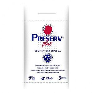 Camisinha Preserv Plus com 3 unidades