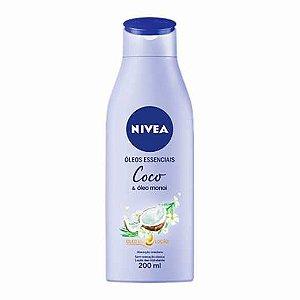 Loção Deo-Hidratante Nivea Óleos Essenciais Coco 200ml