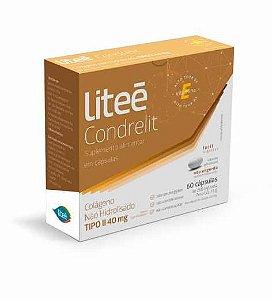 Condrelit Colágeno Não Hidrolisado Liteé 40mg Tipo 2 60 Cápsulas