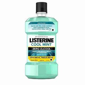 Enxaguante Bucal Listerine Cool Mint Menta Suave Zero Álcool Leve 500ml Pague 350ml